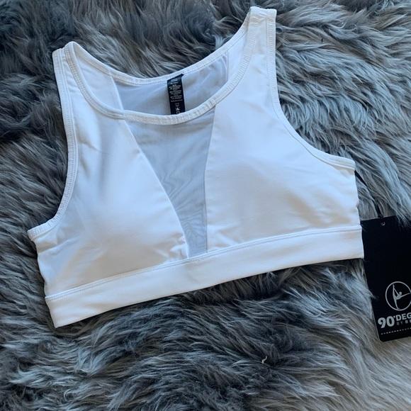 90 Degree By Reflex Other - sexy 90 degree white  mesh sports bra size m